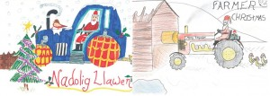 Season's Greetings: Winning Welsh and English cards by Lucy Beddowes,9, and Drew Morris, 10.