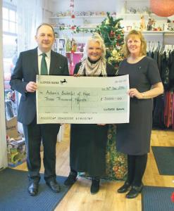 Charity cashes in: Lloyds Bank make £3,000 donation to Bucketful of Hope