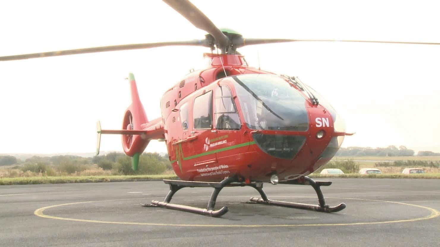 Landing site improvements: Wales Air Ambulance.