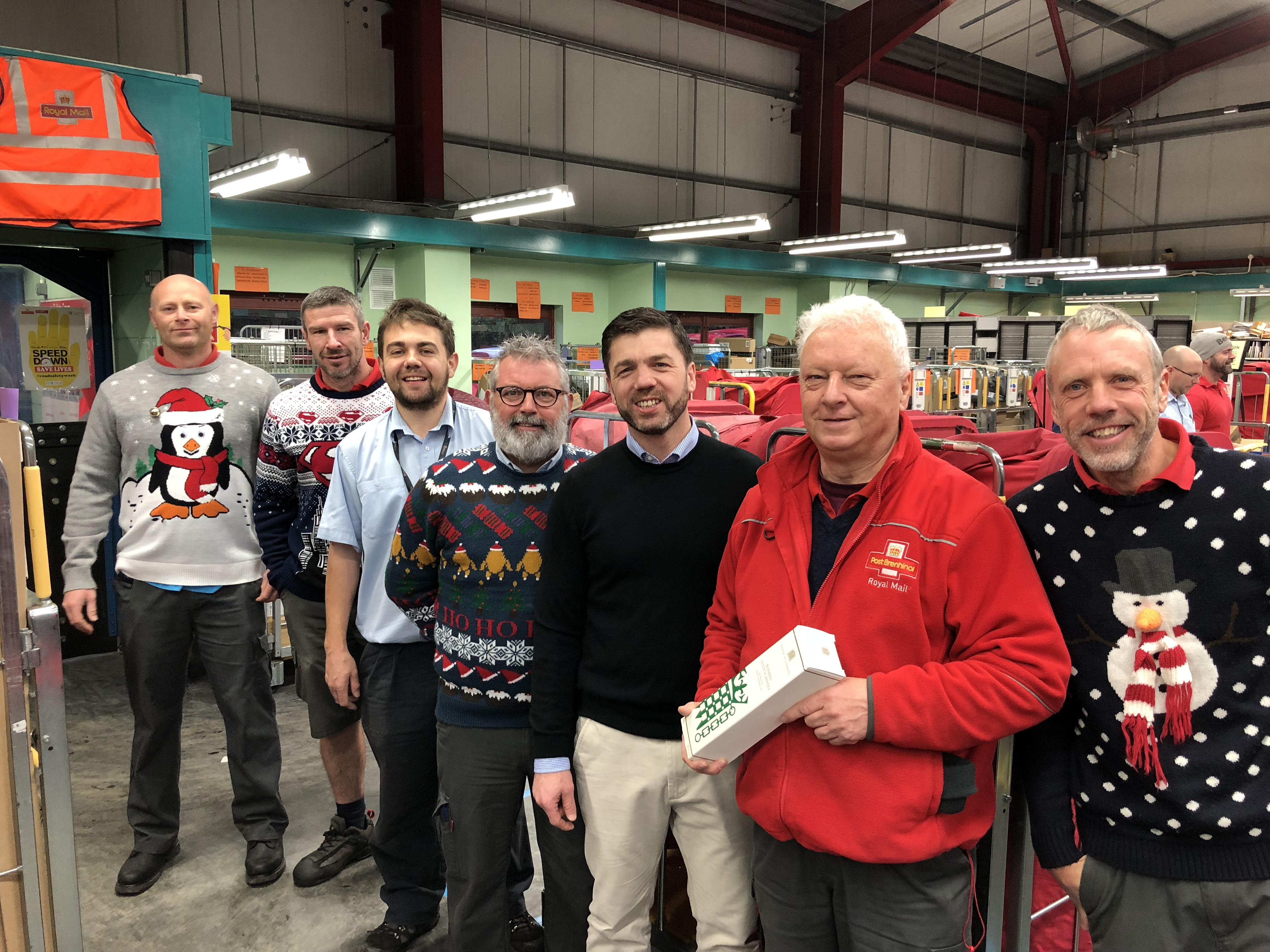 Haverfordwest mp visits royal mail office the pembrokeshire herald stephen crabb mp visited the royal mail haverfordwest delivery office this morning dec 15 to see first hand the impressive operation of delivering m4hsunfo