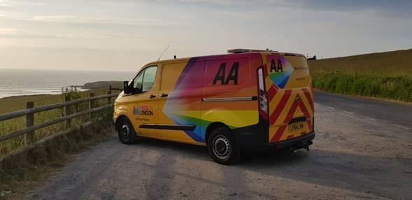 Rainbow Vans: Have You Seen This Rainbow Coloured AA Van Around The