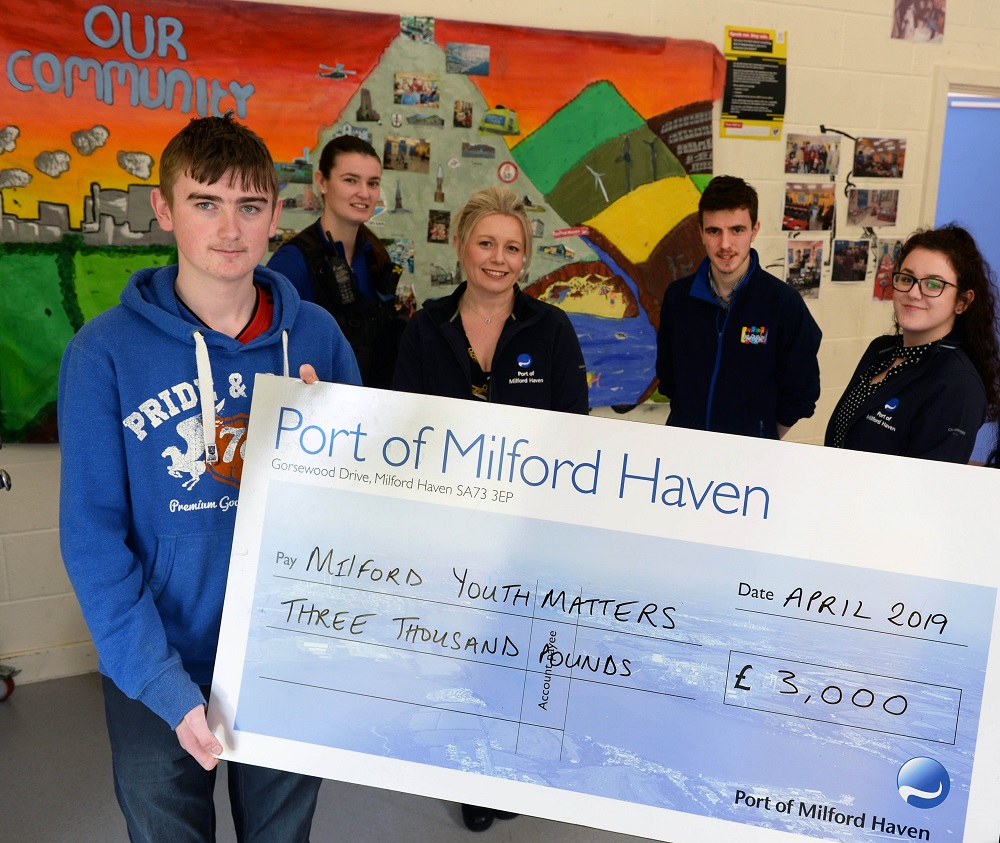 Port sponsors Milford Youth Matters to deliver youth provision throughout 2019 – The Pembrokeshire Herald