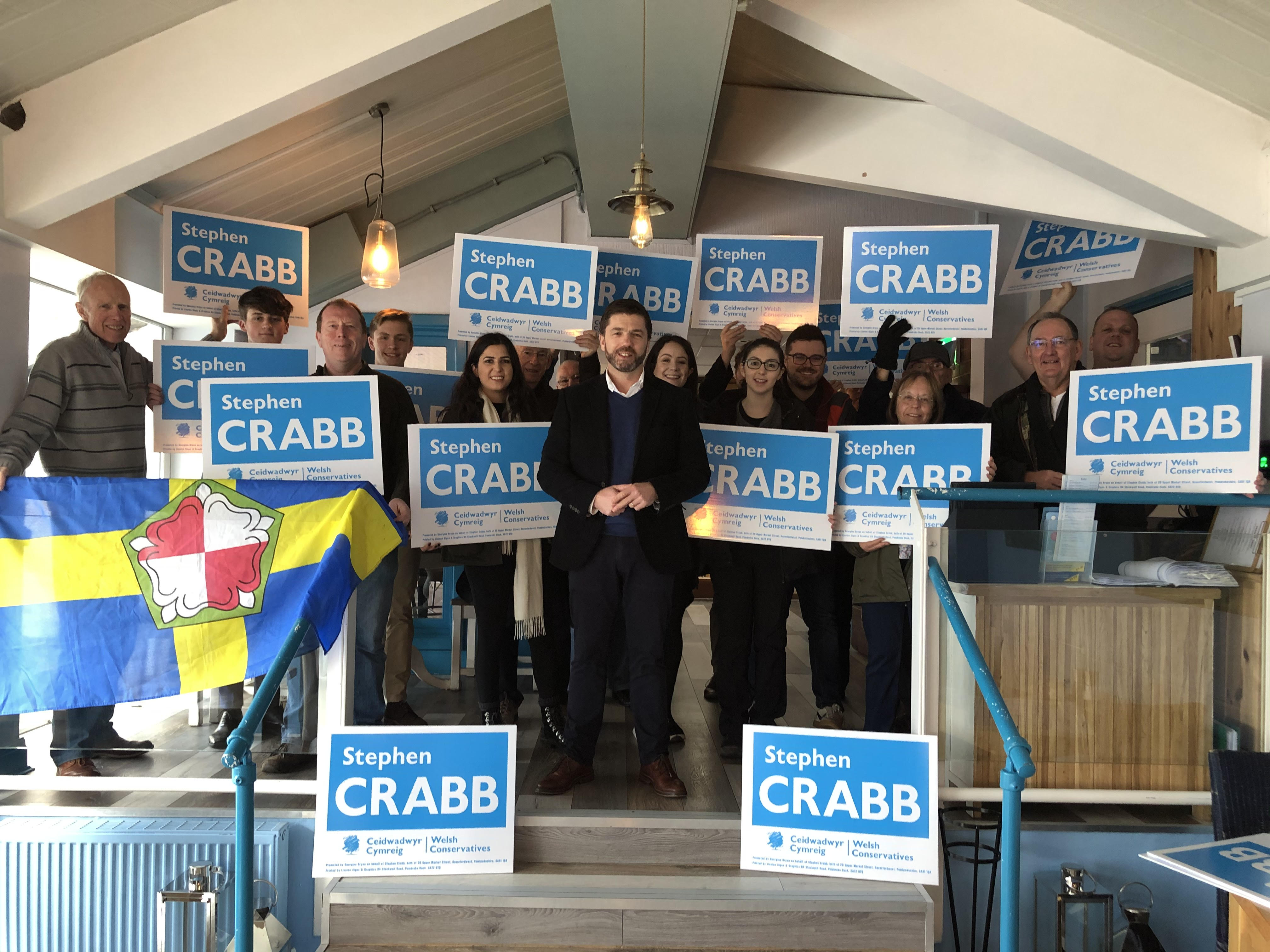 """We have a duty to win"" says Crabb at campaign launch – The Pembrokeshire Herald"